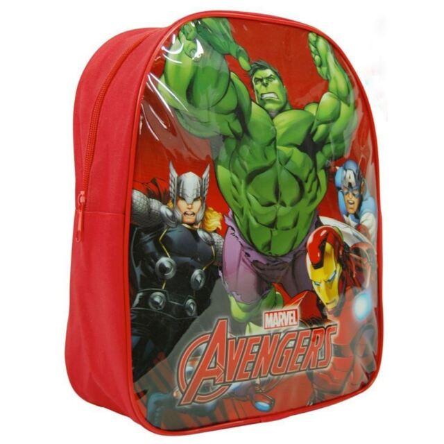 Officiel Marvel Avengers Grand Sac à Dos Sac à Dos D'École Hulk Iron Man