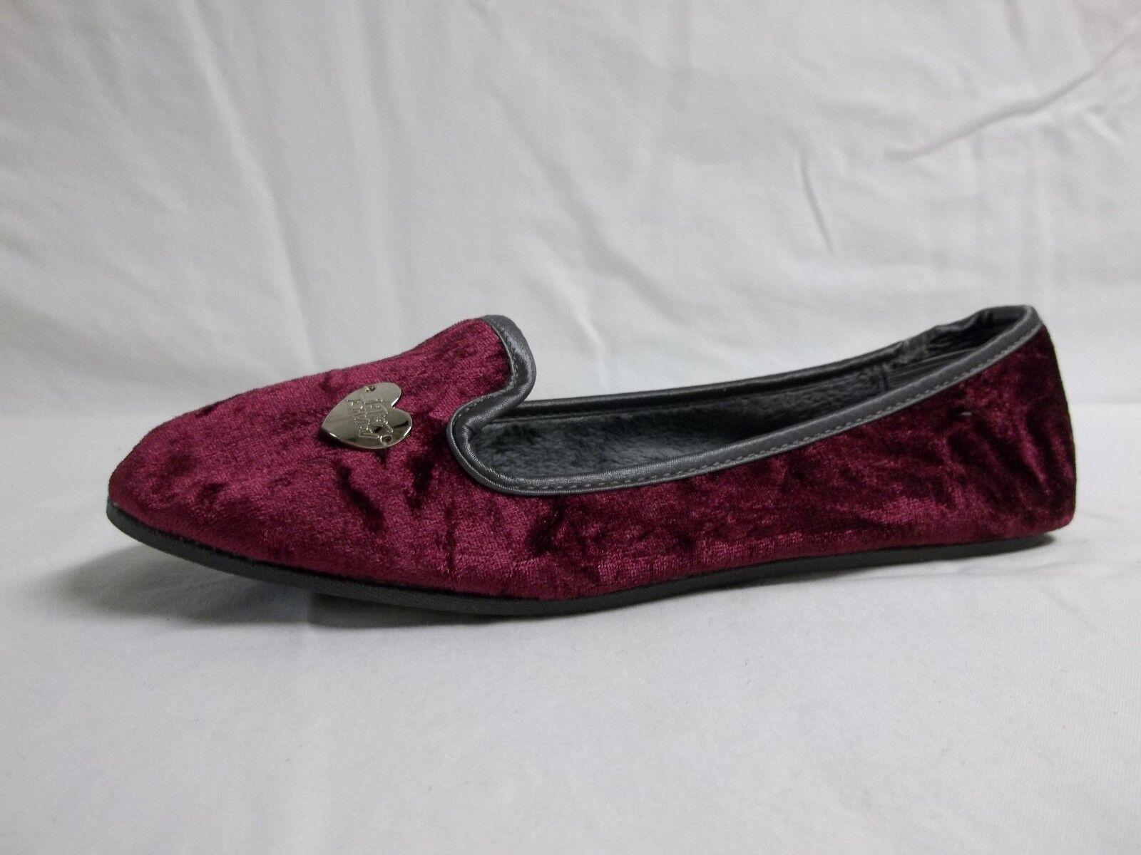 Betsey Johnson Taille 6 M Heartoe violet Velvet Ballet Flats New femmes chaussures NWOB