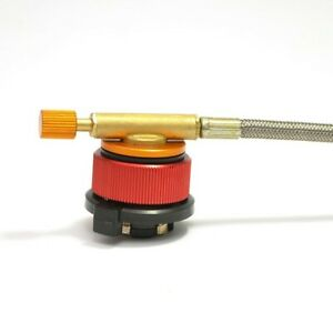 Camping Stove Butane Gas Adapter Convert Fuel Canister Long Gas Tank Part