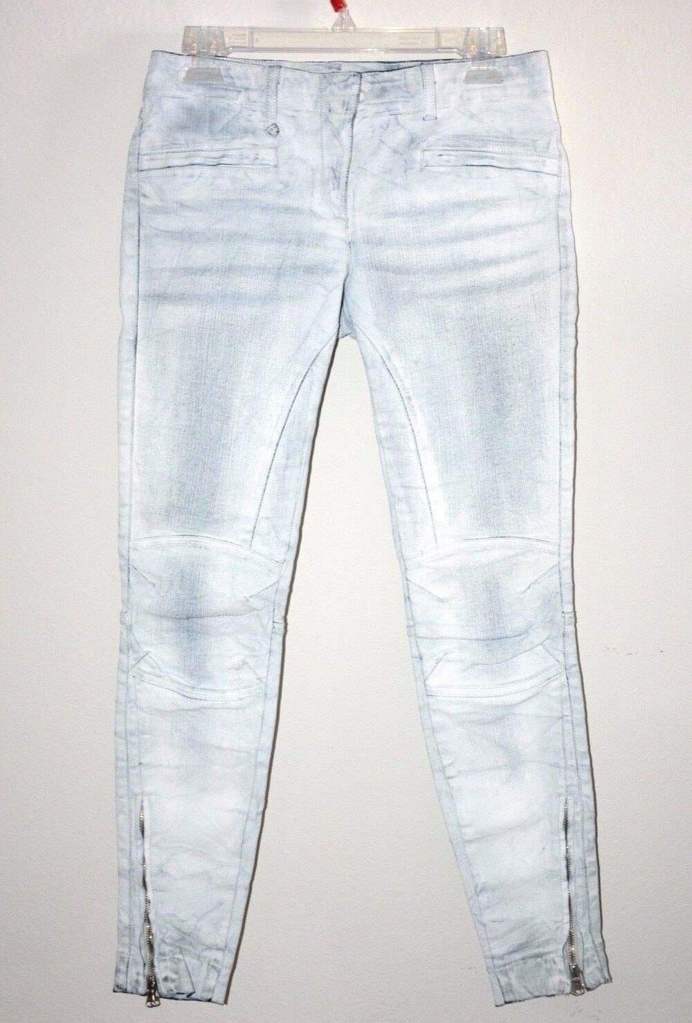 R13 Barneys vintage white painted ankle zip skinny jeans sz 26 RARE