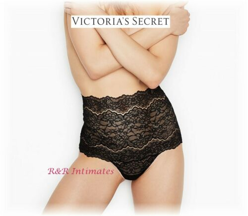 Black Victoria/'s Secret Dream Angels High-Waist Thong 404925 Size Small