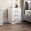 thumbnail 66 - Riano Hulio 1 2 3 Bedside Cabinet Chest Wood High Gloss Bedroom Storage Unit