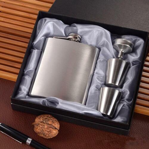 Pocket Drinking Liquor Flask Portable Stainless Steel Hip Flask 7oz Wine Mug Wis