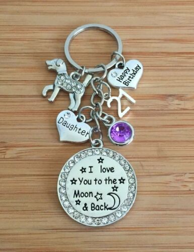 Personalised BIRTHDAY Gift Dog keyring for Mum Friend Daughter Sister Nanny #4