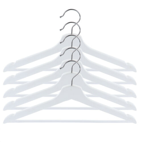 5pcs Wardrobe Wooden Coat Hangers Wood Clothes Garment Shirt Suit Hanger Set