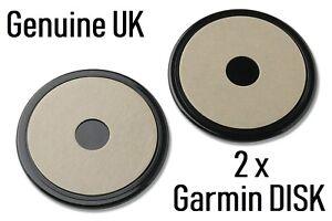 2 pcs Dash Disc Disk Plate For Sat Nav GPS Tomtom Garmin Mount Holder UK STOCK