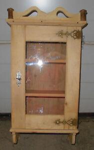 Hängeschrank antik  jugendstil vitrine hängeschrank antik wandschrank obstholz ...