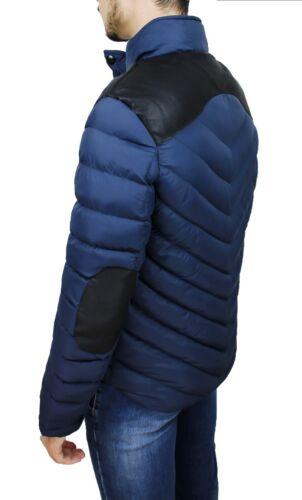 Veste Doudoune Homme Hivernal Bleu Slim Fit Moulant Casual Taille S M L XL XXL