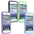 Pellicola+Bumper TPU trasparente per iPhone SE 5 5S custodia cover protezione