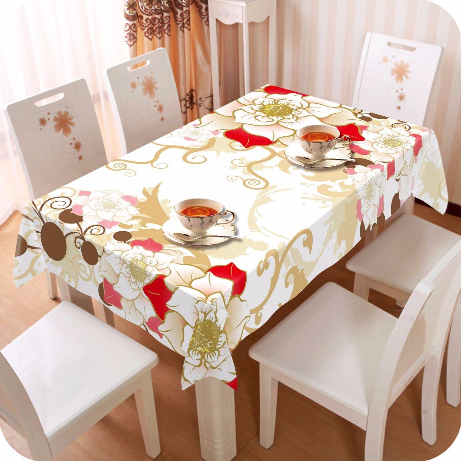 3D pétale 41 Nappe Table Cover Cloth fête d'anniversaire AJ papier peint Royaume-Uni Citron