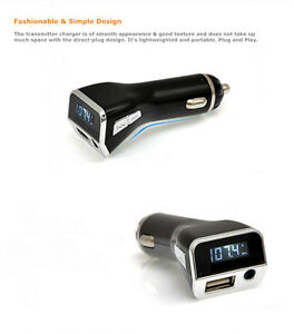 Music Audio Mp3 Player FM Transmitter USB car charger for Samsung Galaxy S6 edge