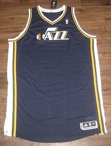 ae702ad4d NEW ADIDAS UTAH JAZZ PRO CUT NBA JERSEY BLANK BLUE AUTHENTIC SIZE ...