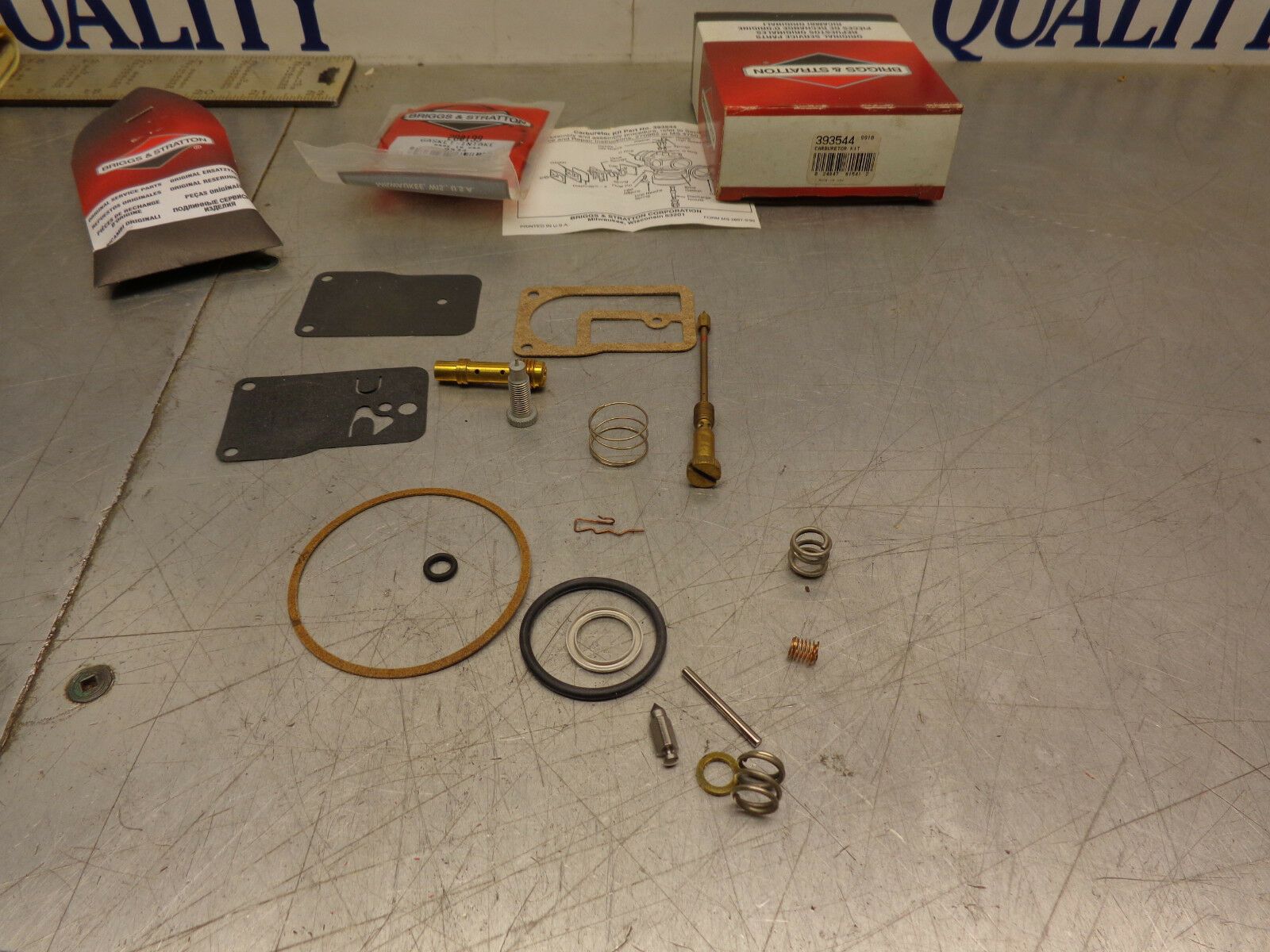 Original Equipment Manufacturer Briggs 393544 Cocheburador Reconstruir Revisión Kit para muchos 253417 2534 12 Serie