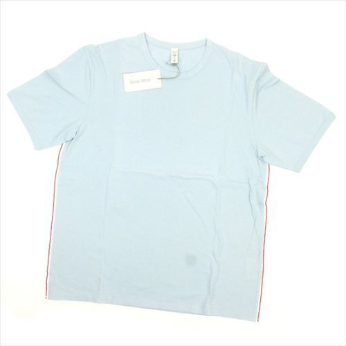 Miumiu T-Shirts Blau  Herren Authentic Used F1317