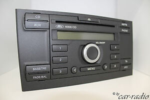 ford radio single cd 6000cd original autoradio 2 din 3s7t 18c815 ac pty aux mode ebay. Black Bedroom Furniture Sets. Home Design Ideas
