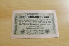 *Reichbanknote 5 Millionen Mark 1923  *(ORD 2)