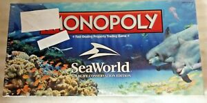 Factory Sealed Brand New - SeaWorld Wildlife Conservation Edition Monopoly