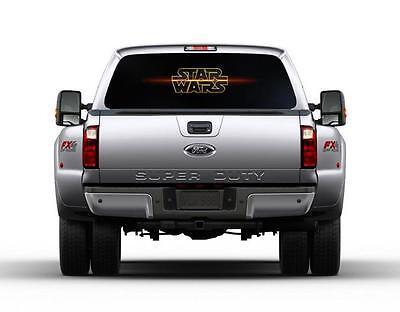 Star Wars Logo Car Rear Window Graphic Decal Sticker Truck SUV Van 086