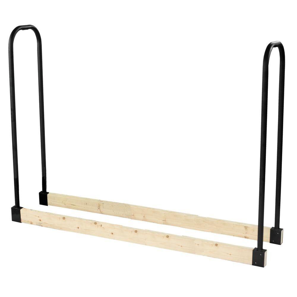 Adjustable Firewood Rack Bracket Kit Heavy Steel Black