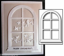 GRAND MADISON ARCHED WINDOW metal die - Poppystamps dies 847 All Occasion
