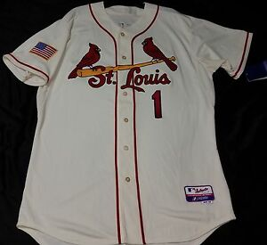 buy popular 26945 1210f Majestic Authentic 48 Xl, St Louis Cardinals Marfim Ozzie ...