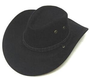 BLACK ROPER COWBOY HAT with rope headband western cowboys wear caps ... 54ed3471798