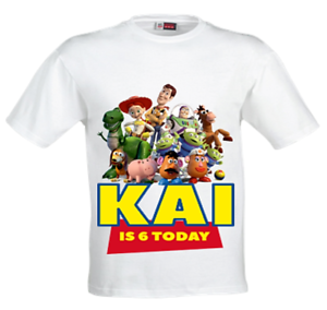 Toy Story Birthday T-shirt-Personalised Toy Story birthday t-shirt-toy story top