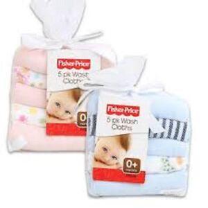 Fisher-Price-5-pack-washcloths-Brand-New