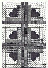 HEART OF MY CABIN Quilt as-you-go Log Cabin Pattern