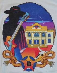 Hard-Rock-Cafe-DALLAS-1990s-Cowboy-Guitar-White-HEAVY-Tee-T-SHIRT-XL-24-034-x-20