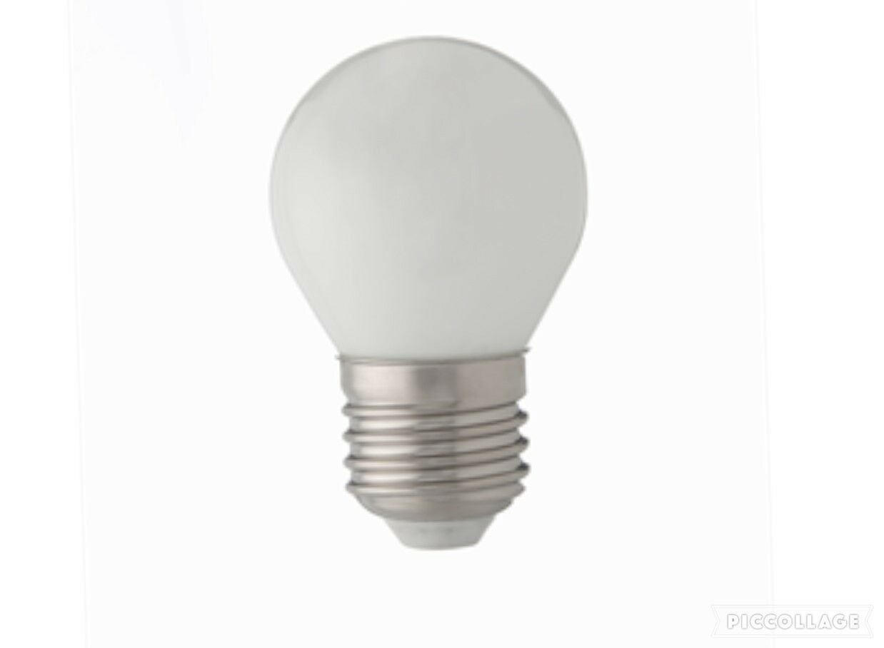 10 x 4w LED Round Opal Pearl Frosted Filament Light Bulb 40w ES Screw In E27