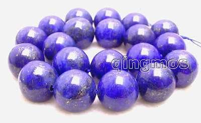 "SALE Big 20mm Round Blue natural lapis lazuli loose beads strand 15""-los633"