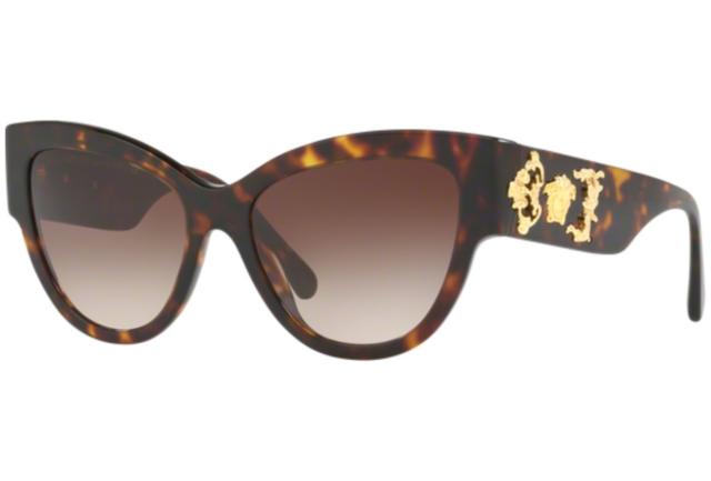 2d0d0a42ce4 Versace Cat Eye VE 4322 108 13 Tortoise Gold Medusa Sunglasses New Italy