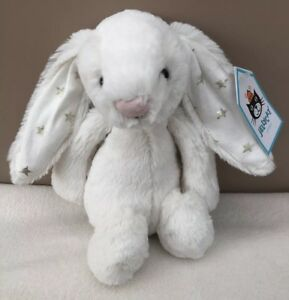 NEW-Jellycat-Small-Bashful-Twinkle-Bunny-Soft-Toy-Comforter-White-Baby-BNWT