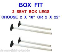 2 Seat Box Legs With Mud Feet For Tackle Box Foot Platform Foot Rest Foot Plate