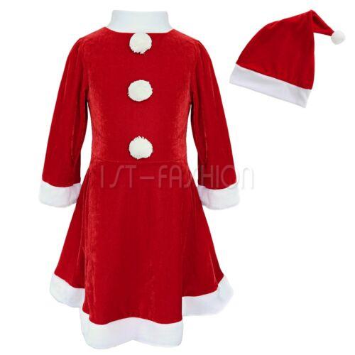 Toddler Girls Kids Christmas Costumes Xmas Santa Princess Dress Outfits Clothes