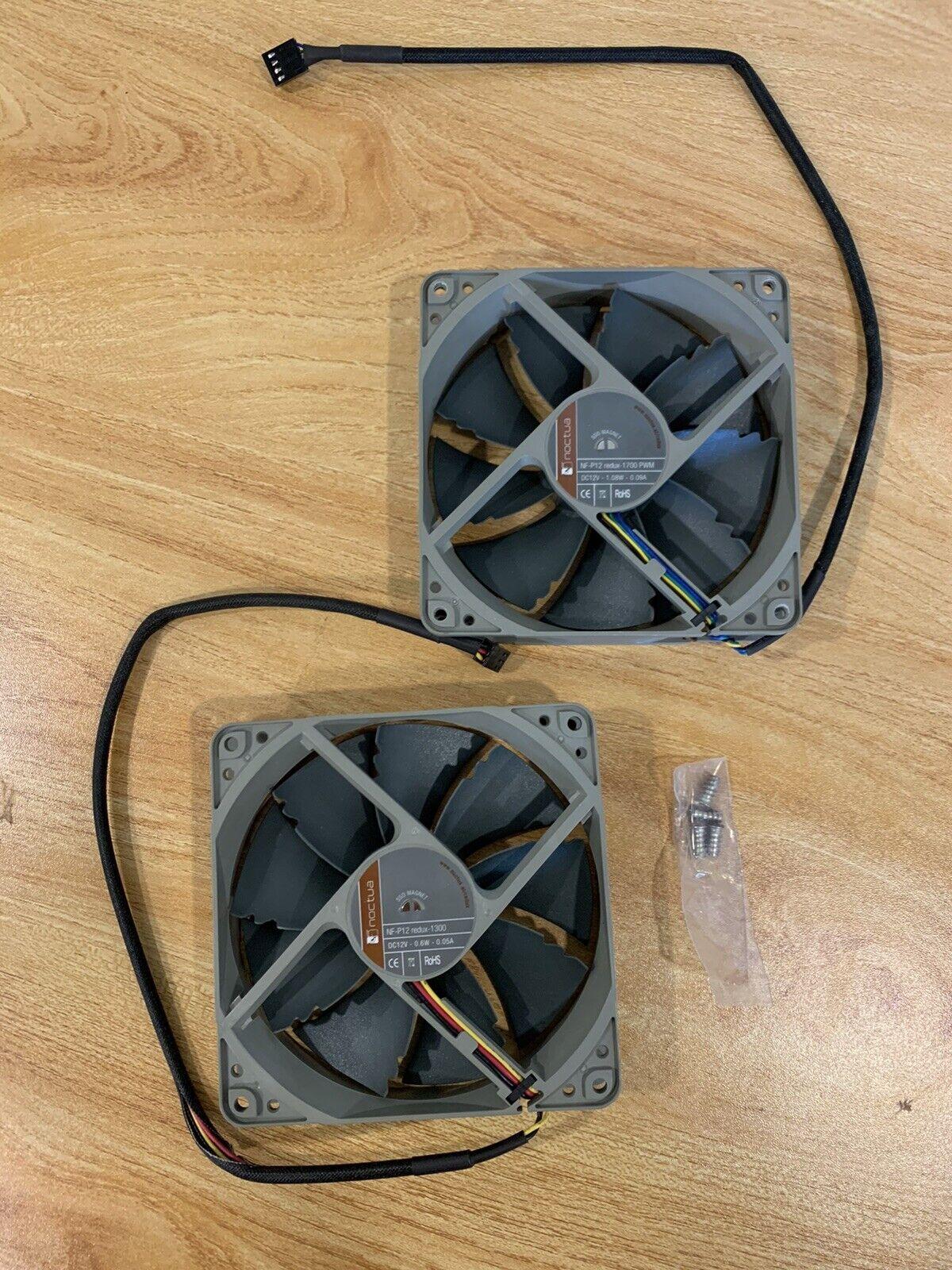 [Lot of 2] Noctua NF-P12 Redux-1300 Fan 3-Pin 1300 RPM 120mm