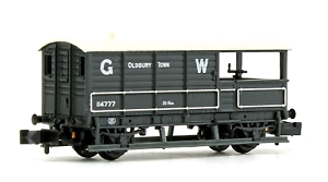 Graham-Farish-377-375D-N-Gauge-GWR-20T-039-Toad-039-Brake-Van-GWR-Grey