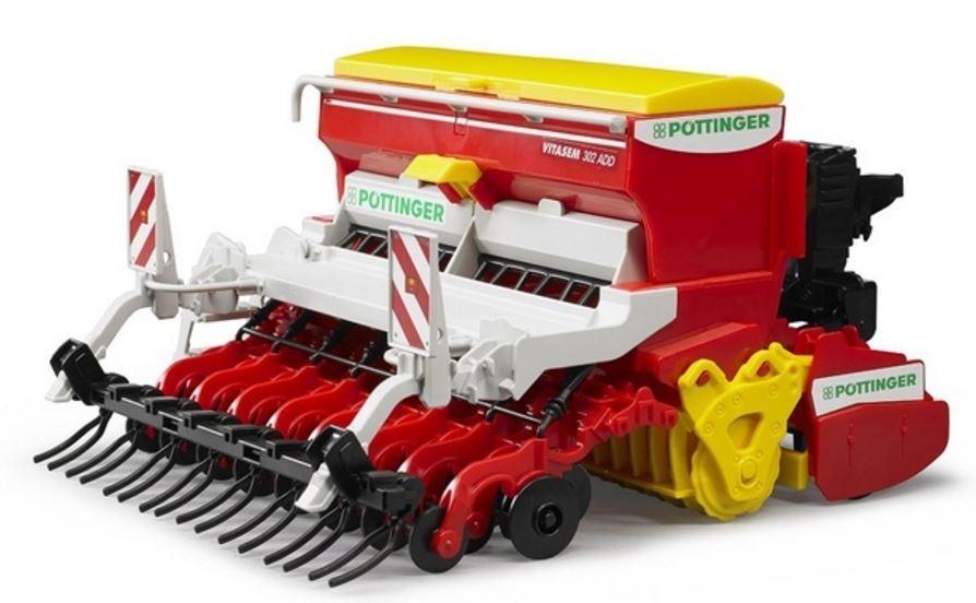 Nuevo BRUDER Pottinger Vitasem sembradora de grada giratoria & siembra máquina 1 16 Juguetes