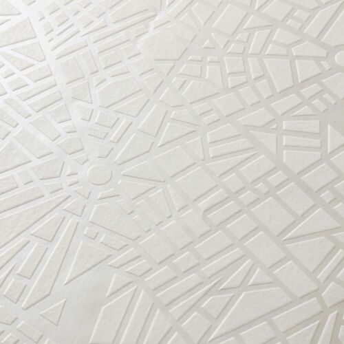 Was £17 Superfresco Easy Maps Geometric Shimmer White//Mica Wallpaper
