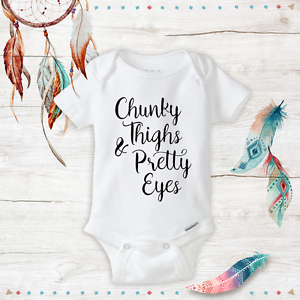 chunky thighs pretty eyes onesies cute baby girl clothes newborn