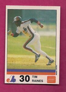 VERY-RARE-1983-MONTREAL-EXPOS-TIM-RAINES-STUART-NRMT-MT-CARD-INV-A2901