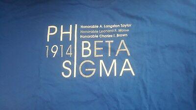 Phi Beta Sigma Fraternity 1914 Howard GOMAB Blu Phi Short-Sleeve T-Shirt