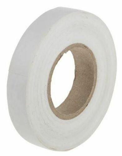 White Electrical Tape 12mm x 20m PVC 0.13mm 70°C BS EN 60454-3-1//Type 2