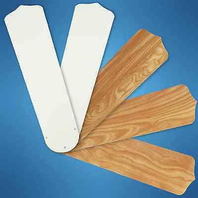 """Replacement Blades for 52"""" Ceiling Fan - 5-pack Reversible White / Maple_236-B35"""
