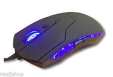 Nuevo 2400 DPI 6 botones óptico Gaming Mouse USB para PC Laptop Escritorio Mac Book