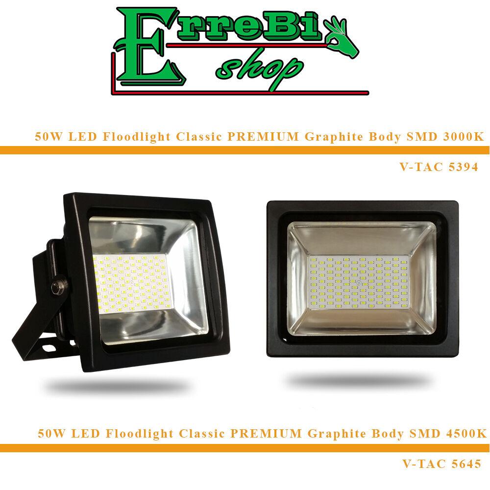 PROJECTEUR GRAPHITE FLOODLIGHT LED SMD 50W 3000K LUMIÉR CHAUD PREMIUM GRAPHITE PROJECTEUR IP65 V-TAC 8f0367