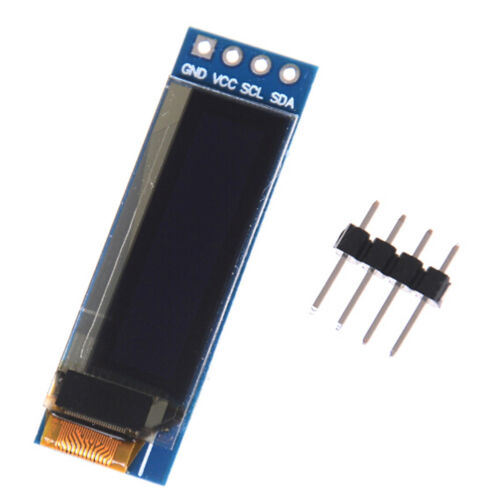 """iic i2c 0.91/"""" 128x32 blue oled lcd display module 3.3v 5v for arduino HV"""