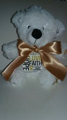 6 Inch Gold Ribbon Childhood Cancer Awareness Teddy Bear