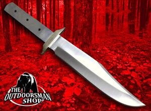 CUSTOM-BLANK-MEDIUM-FULL-TANG-BOWIE-Knife-Make-Blade-w-Brass-Guard-Bolster-007